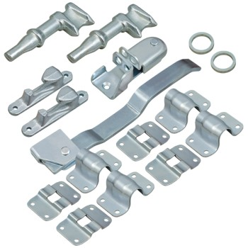 Door Lock Kit. Suit 34mm Pipe - Zinc Plated
